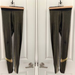 Nike Black/Golden Leggings (new without tag)